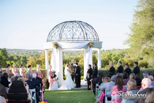 Erin Wedding Gardens of Cranesbury View ceremony gazebo