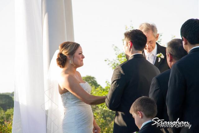 Erin Wedding Gardens of Cranesbury View happer bride ceremony