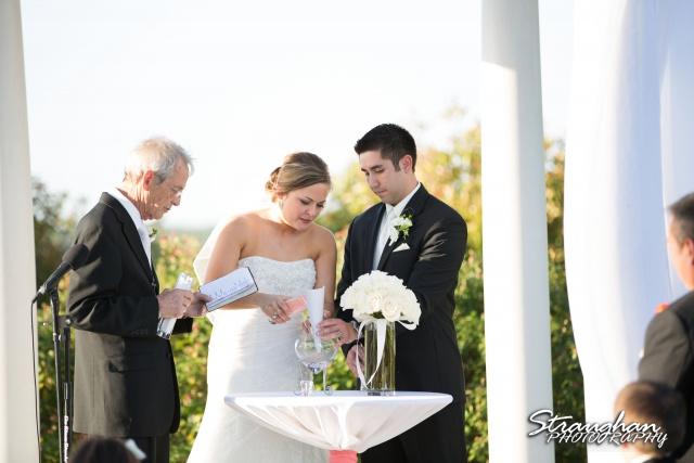 Erin Wedding Gardens of Cranesbury View sand ceremony