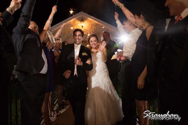 Erin Wedding Gardens of Cranesbury View sparkler exit