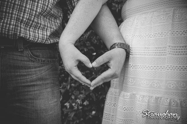 Diana K engagement Gruene heart hands