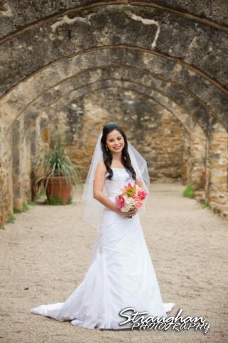 Dora's Bridal Mission San Jose in the arches
