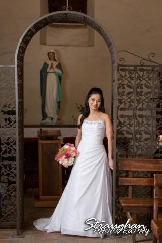 Dora's Bridal Mission San Jose inside the rose room