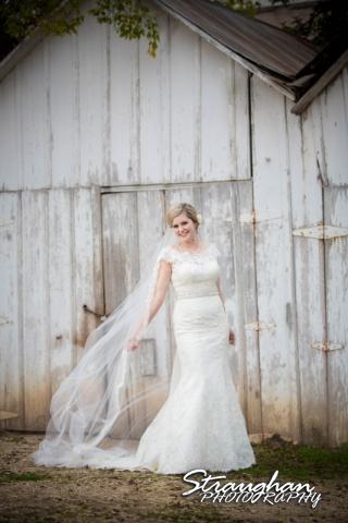 Emily's Bridal in Gruene veil flowing