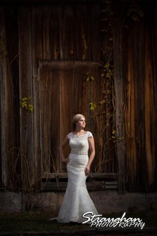 Emily's Bridal in Gruene drama wood wall