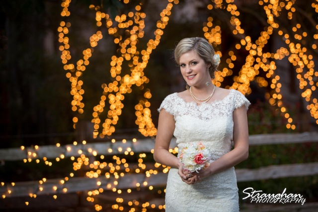 Emily's Bridal in Gruene with christmas lights