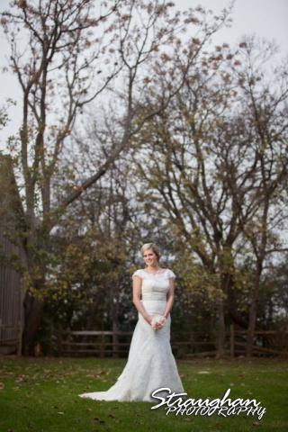 Emily's Bridal in Gruene against trees
