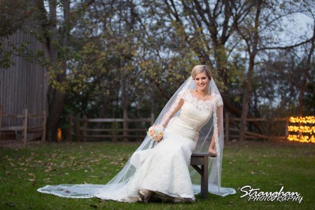 Emily's Bridal in Gruene sitting against trees