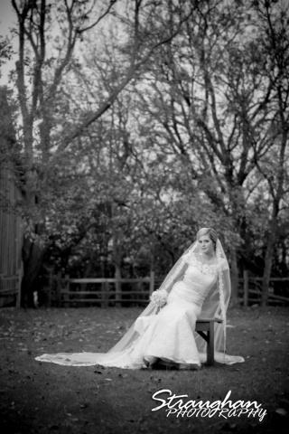 Emily's Bridal in Gruene sitting on bench