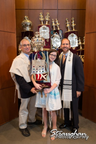 Emily's Bat Mitzvah holding the Tora