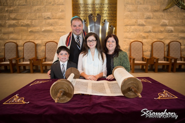 Emily's Bat Mitzvah with family