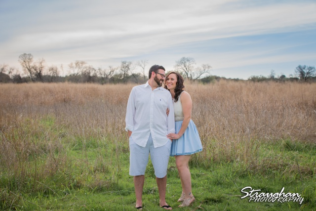 Elana's Engagement Cibolo Natural Area in the grass
