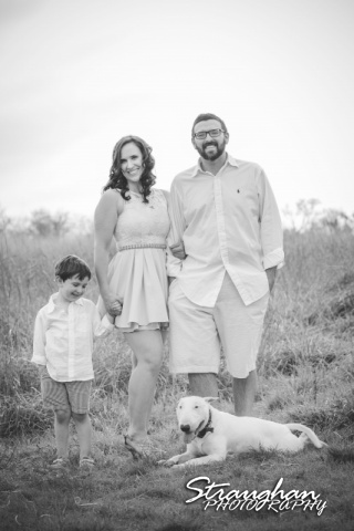 Elana's Engagement Cibolo Natural Area standing with dog