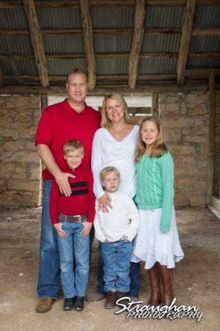 Hardison Family Photos in the barn