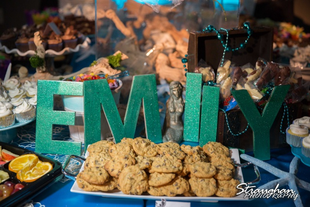 Emily's Bat Mitzvah cake table