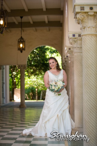 E Murray Bridal sitting Landa Library in the arch