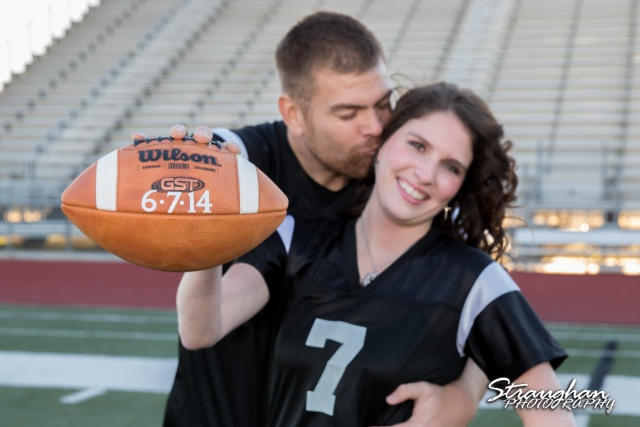 Jackie Engagement Steele High school with the ball