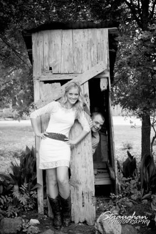 Lynn-Nathan's engagement Gruene, TX. out house