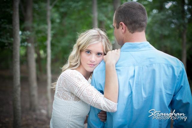 Lynn-Nathan's engagement Gruene, TX. blue eyes by tree