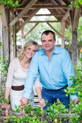 Lynn-Nathan's engagement Gruene, TX. inside gazebo gate