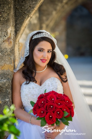 Erika Bridal portrait Mission San Josearch close up