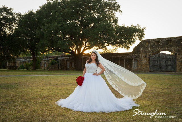 Erika Bridal portrait Mission San Jose sunset