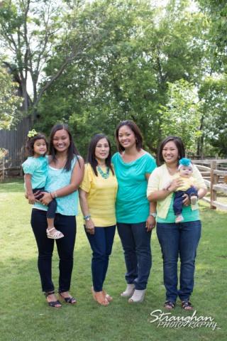 Jacildo family sitting the girls