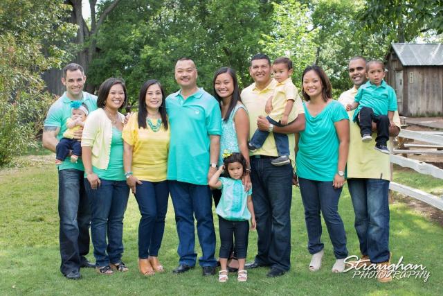 Jacildo family sitting the whole family