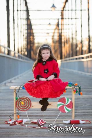 Mayes family portraits faust street Bridge alex