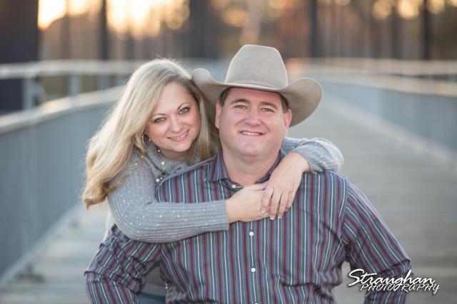 Mayes family portraits faust street Bridge couple horizontal