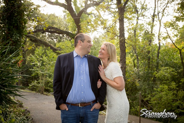 Gretchen Engagement UIW campus on the path with sun