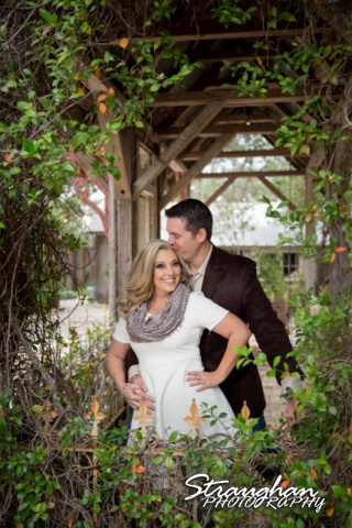 Heather engagement Gruene in gazebo