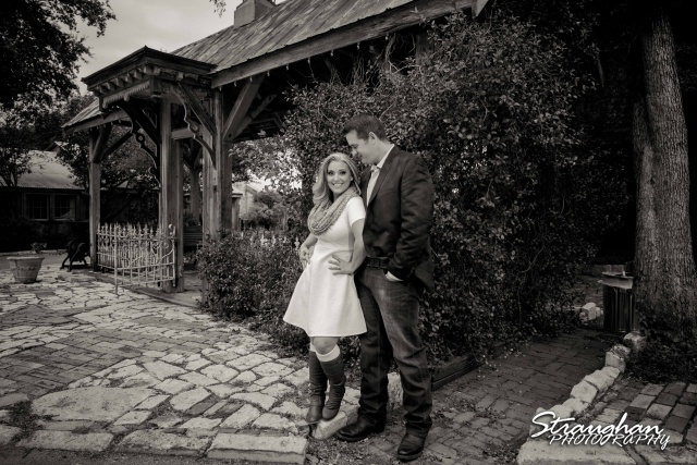 Heather engagement Gruene outside gazebo