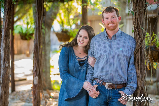 Heather and Wes's engagement session Gruene greenery