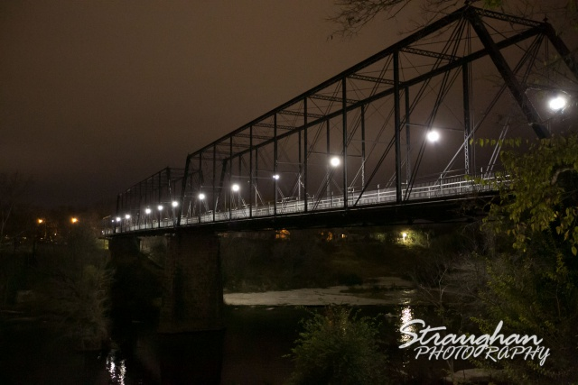 Milltown faust bridge wedding New Braunfels night