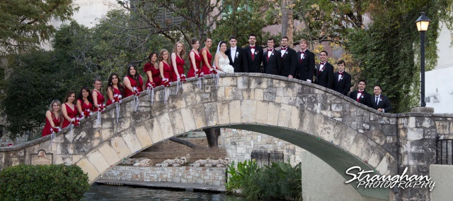Inez San Antonio Wedding bridal party riverwalk