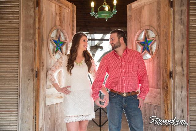 Blais and Jessica engagement Gruene heart hands at stardoors