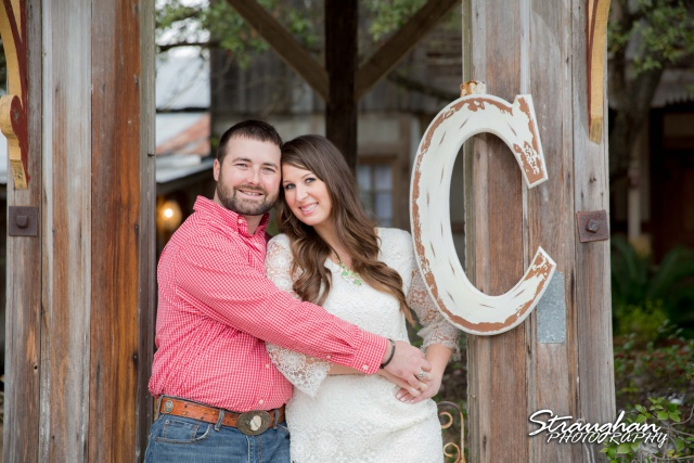 Blais and Jessica engagement Gruene by the big C on gazebo