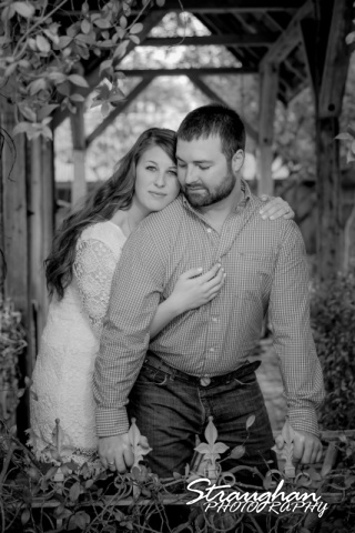 Blais and Jessica engagement Gruene bride in bw eyes