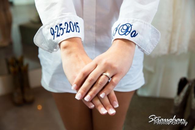 Blais_Jessica wedding the Lodge at Bridal Veil Falls brides shirt
