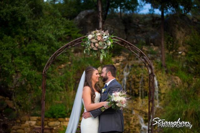 Blais_Jessica wedding the Lodge at Bridal Veil Falls the arch