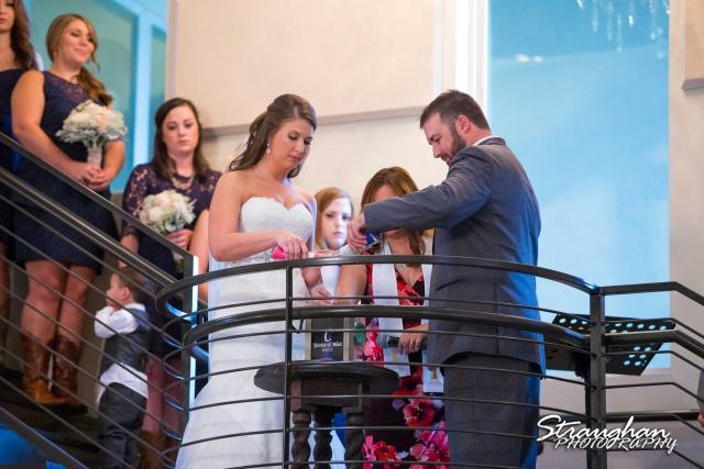 Blais_Jessica wedding the Lodge at Bridal Veil Falls sand ceremony