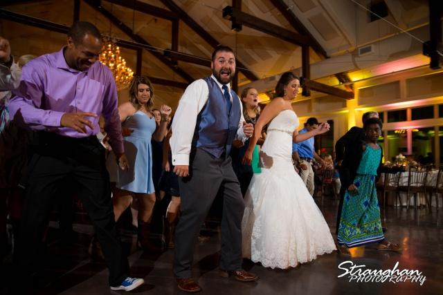 Jessica & Blais wedding the Lodge at Bridal Veil Falls party time