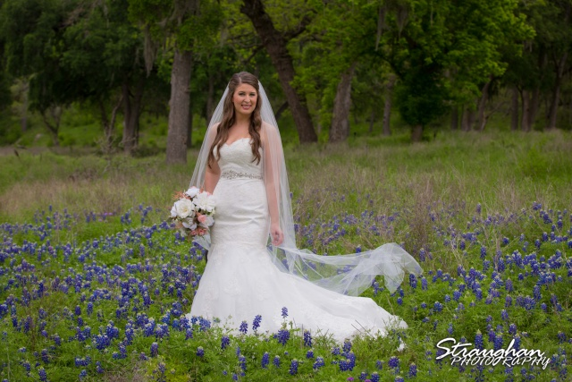 Jess Birdy Bridal the Lodge at Bridal Veil Falls in the bluebonnets