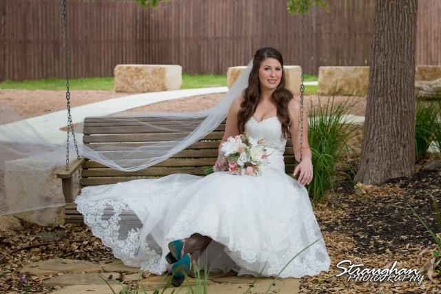 Jess Birdy Bridal the Lodge at Bridal Veil Falls swing