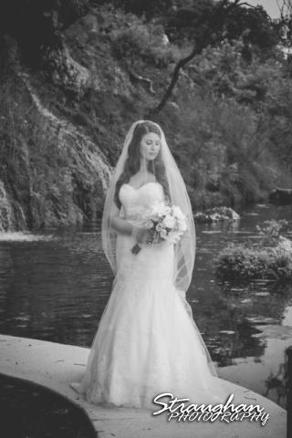 Jess Birdy Bridal the Lodge at Bridal Veil Falls veil over BW