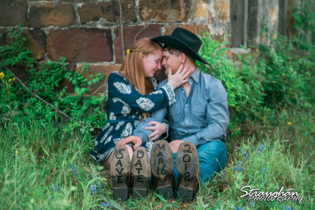 Caleb and Jamie's Engagement Poteet save the date