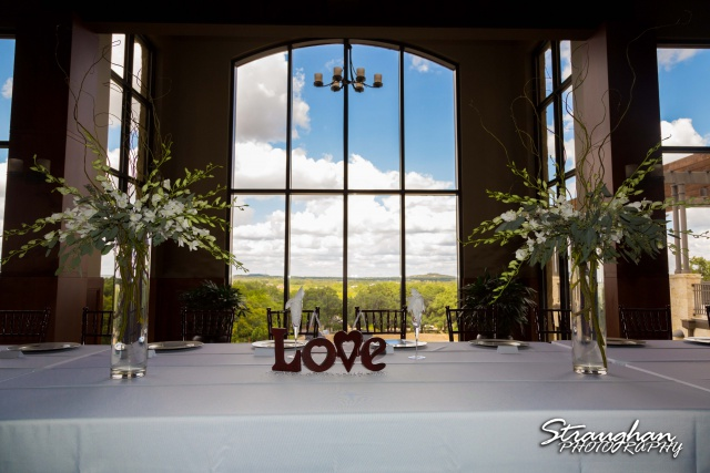 Cristina wedding St. Peters the Apostle Catholic Church Boerne room