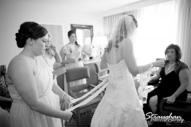 Jessica wedding Hyatt Hill Country Resort corset