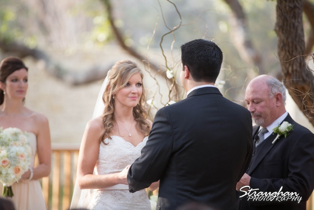 Jessica wedding Hyatt Hill Country Resort vows